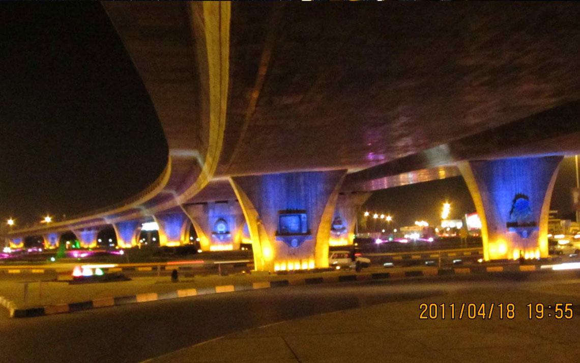 اجرای نورپردازی تقاطع غیر هم سطح جمهوری اسلامی