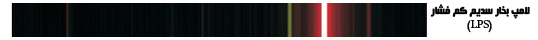 منحنی اسپکتروم لامپ متال سدیم کم فشار (LPS) (Low Pressure Sodium) مربوط به (CRI)
